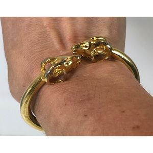 Kenneth Jay Lane Ram Cuff Bracelet